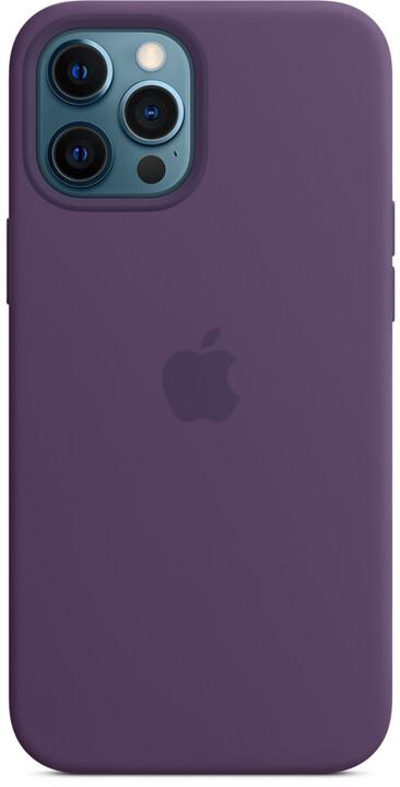 Apple silikonový kryt s MagSafe pro iPhone 12 Pro Max, fialová