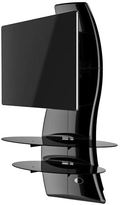 Meliconi 488086 GHOST DESIGN 2000 ROTATION Sestava pro TV a komponenty k instalaci na zeď, černá