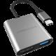 HYPER 3v1 USB-C Hub 4K HDMI, šedá