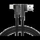 SWISSTEN datový kabel Arcade USB-A - Lightning, M/M, 3A, zahnutý konektor 90°, opletený, 1.2m, černá