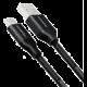 AXAGON SPRING USB-C - USB-A, 2m, 3A, oplet, černý