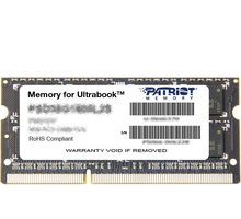 Patriot Signature Line 8GB DDR3 1600 CL11 SO-DIMM CL 11 - PSD38G1600L2S
