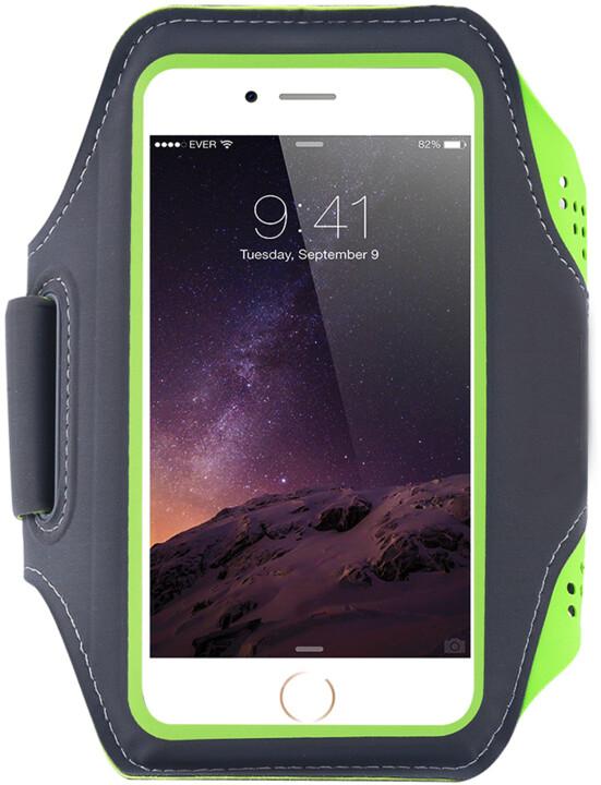 """Mobilly sportovní pouzdro na ruku pro mobilní telefon do 6.4"""", zelená"""
