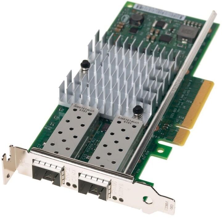 Dell LAN karta 2x/1001000/10000 - Intel X520 DP, LP, SFP+