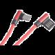 Akasa kabel USB-A 2.0 - USB-C, M/M, zahnuté konektory 90°, 1m, červená