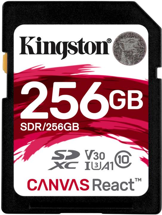 Kingston SDXC Canvas React 256GB 100MB/s UHS-I