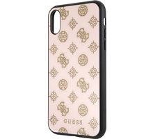 Guess pouzdro Layer Glitter Peony pro iPhone XR, světle růžová 2444389