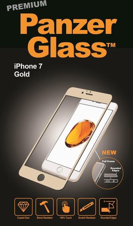 PanzerGlass Premium pro Apple iPhone 7/8, zlaté