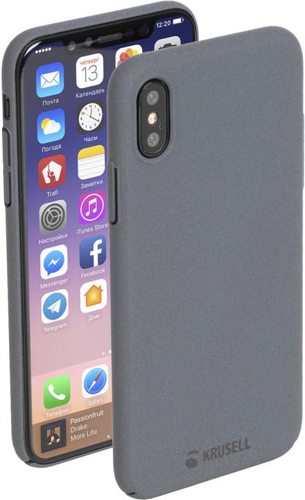 Krusell zadní kryt SANDBY pro Apple iPhone X, kamenně šedá