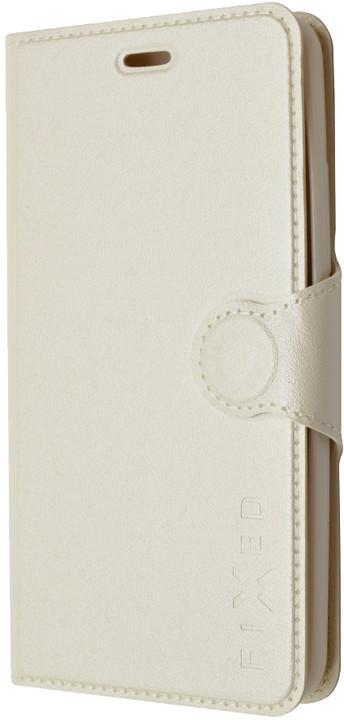 FIXED flipové pouzdro pro Huawei Y6, bílá