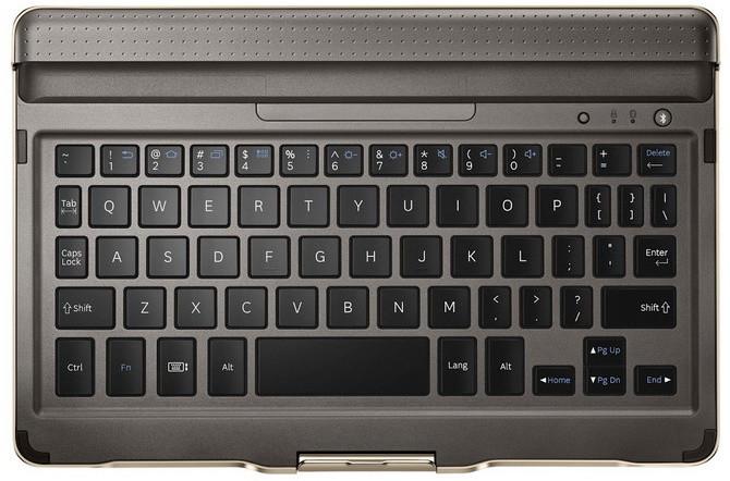 Samsung pouzdro s klávesnicí EJ-CT700UAE pro Galaxy Tab S 8.4, titanium
