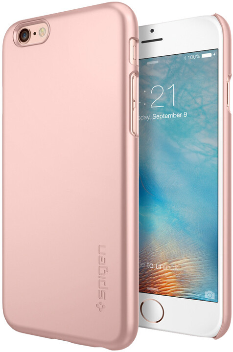 Spigen pouzdro Thin Fit pro iPhone 6/6s, rose gold