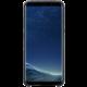 Samsung S8 Zadní kryt - kůže Alcantara, stříbrno/šedá