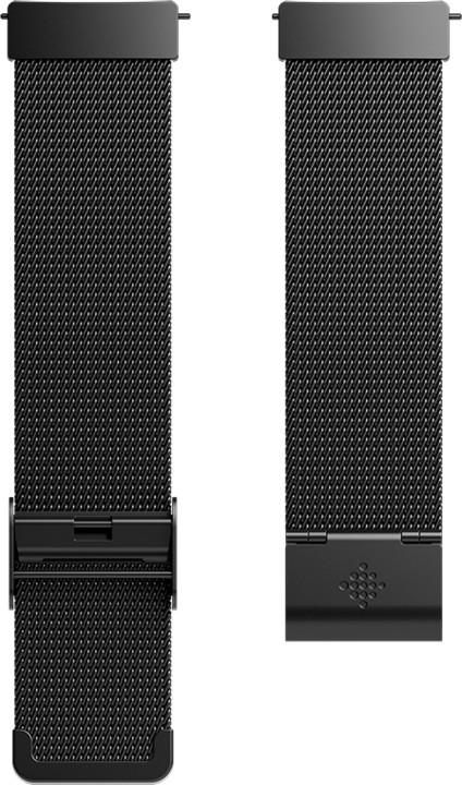 Fitbit Versa Metal Mesh Black Stainless Steel - náhradní pásek