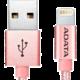 ADATA Lightning kabel MFi, 100cm, kovový, růžový