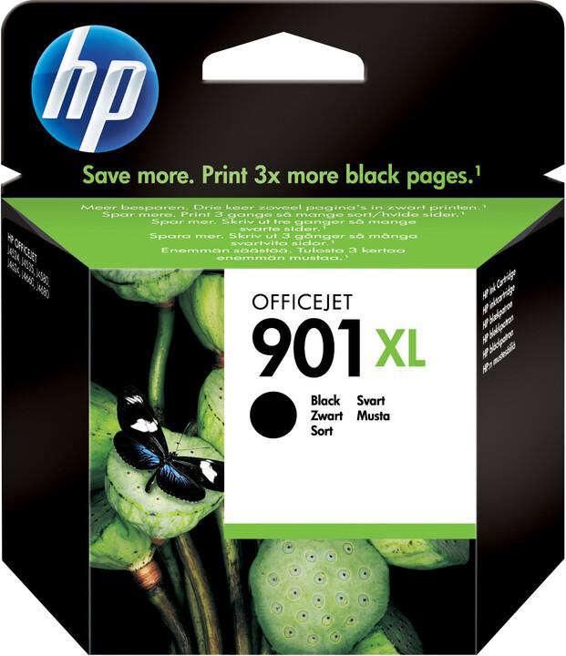 HP CC654AE, no. 901XL, černá – ušetřete až 50 % oproti standardní náplni