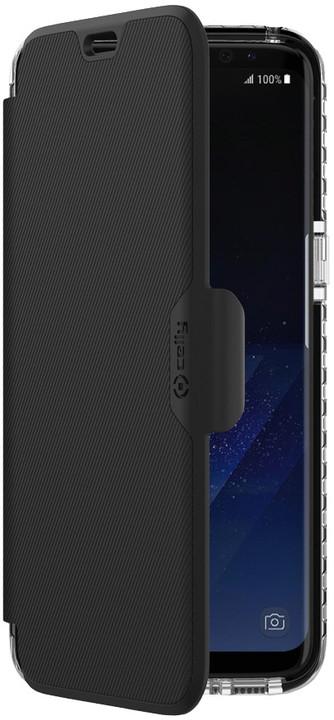 CELLY pouzdro typu kniha Hexawally pro Samsung Galaxy S8, černé