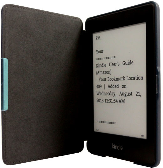 C-TECH PROTECT pouzdro pro Amazon Kindle PAPERWHITE, hardcover, AKC-05, modrá