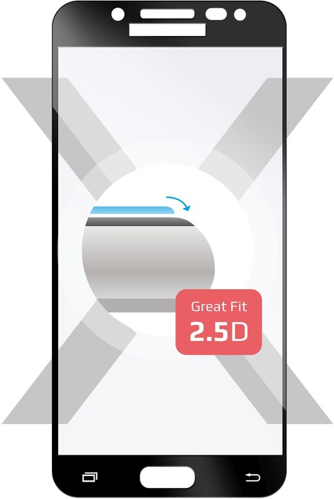 FIXED Full-Cover ochranné tvrzené sklo pro Samsung Galaxy J5 (2017), přes celý displej, černé