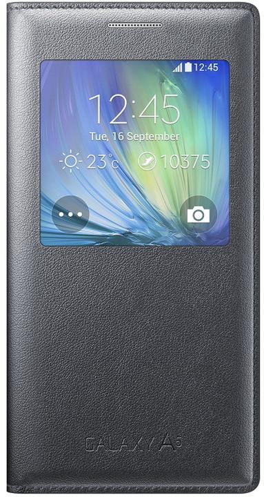 Samsung flipové pouzdro S-view EF-CA500B pro Galaxy A5 (SM-A500), černá