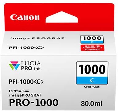 Canon PFI-1000C, cyan