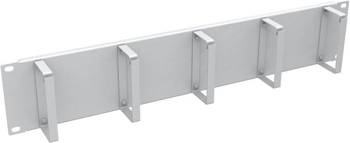 """Solarix vyvazovací panel 19"""", 2U, RAL 7035, ocelový VP-02"""