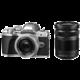 Olympus E-M10 Mark III + ED 14-42mm EZ + 40-150mm R, stříbrná/stríbrná/černá