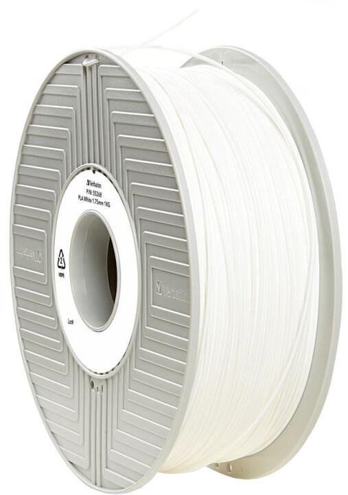 Verbatim tisková struna (filament), PLA, 1,75mm, 1kg, bílá