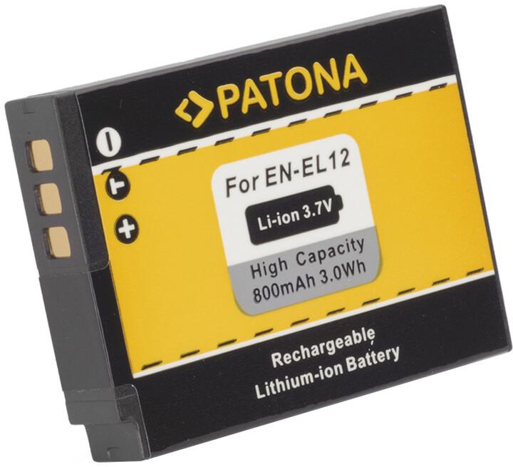 Patona baterie pro Nikon ENEL12 800mAh