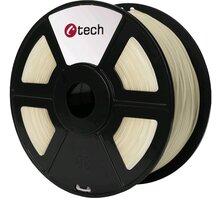 C-TECH tisková struna (filament), PLA, 1,75mm, 1kg, transparentní