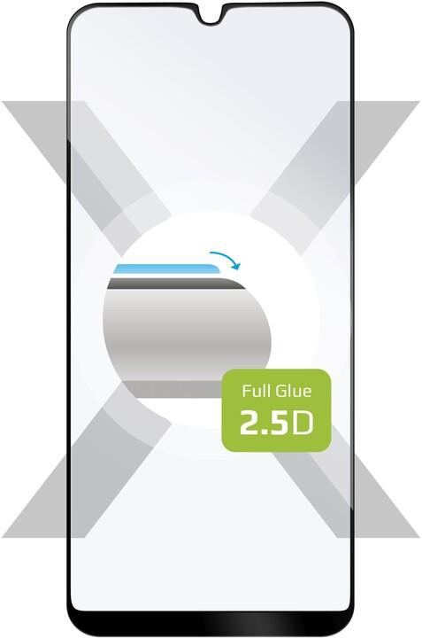 FIXED Ochranné tvrzené sklo pro Oppo A94 5G, s lepením přes celý displej, černá