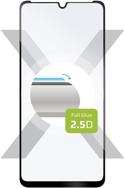 FIXED ochranné tvrzené sklo Full-Cover 2.5D pro Motorola Moto E6s (2020), černá