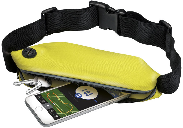 CELLY sportovní neoprénové pouzdro RunBelt, univerzální velikost, žlutá