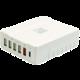 Pelitt nabíjecí stanice P-6Q, 4x USB, QQCP, USB-C, bílá  + Voucher až na 3 měsíce HBO GO jako dárek (max 1 ks na objednávku)