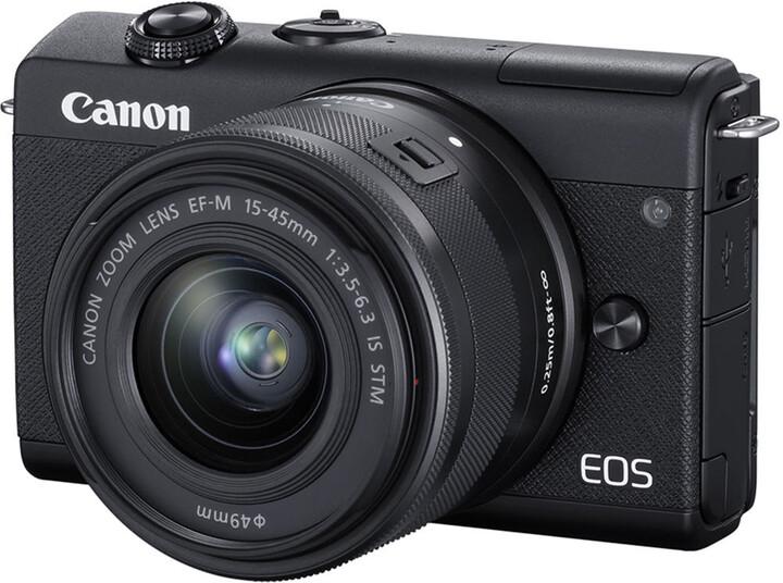 Canon EOS M200, černá + EF-M 15-45mm IS STM