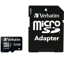 Verbatim Pro MicroSDHC 32GB (Class 10) + SD adaptér - 47041