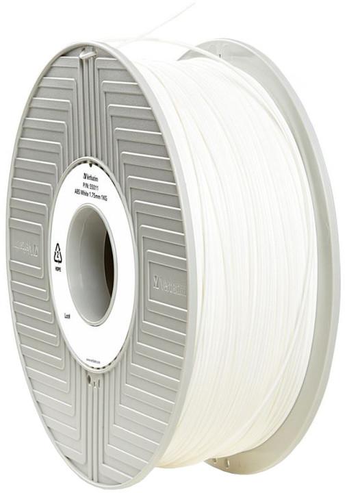 Verbatim tisková struna (filament), ABS, 1,75mm, 1kg, bílá