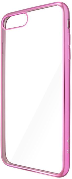 CELLY Laser - pouzdro lemování s kovovým efektem pro iPhone 7 Plus, růžovozlaté