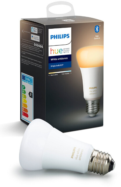 Philips Hue Bluetooth LED žárovka, E27 9W 806lm 2200-6500K