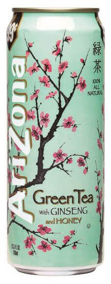 Arizona Green Tea Ginseng & Honey 680 ml