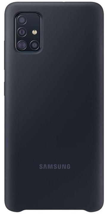 Samsung silikonový zadní kryt pro Samsung Galaxy A51, černá
