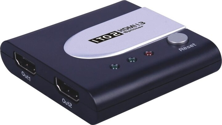 PremiumCord HDMI splitter 1-2 Port mini bez napájecího adaptéru