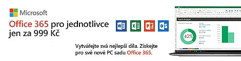 I ty mužeš mít Office 365 pro jednotlivce za 999 Kč