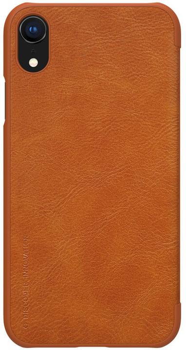 Nillkin Qin Book pouzdro pro iPhone Xr, hnědý