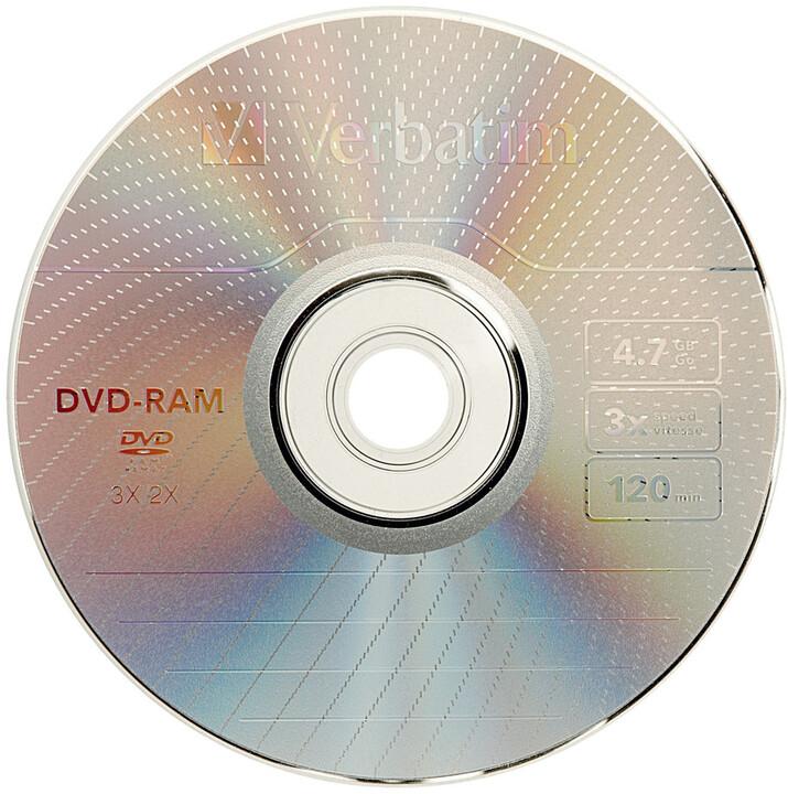 Verbatim DVD-RAM 3x 4,7GB slim (non-cartridge) 3ks
