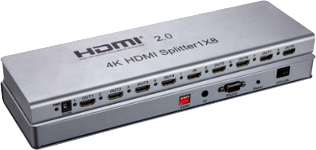 PremiumCord HDMI 2.0 splitter 1-8 portů, 4K x 2K/60Hz, FULL HD, 3D