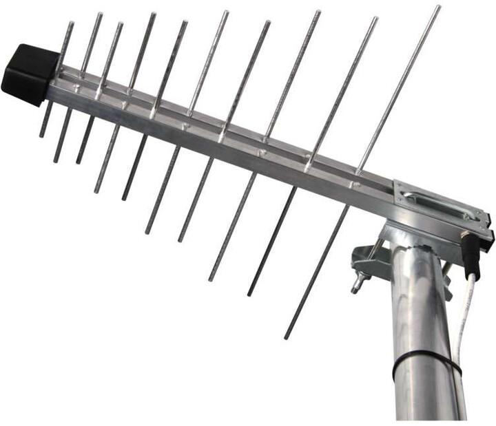 Emos EM-20G/Z, se zdrojem 0–100 km DVB-T2, venkovní