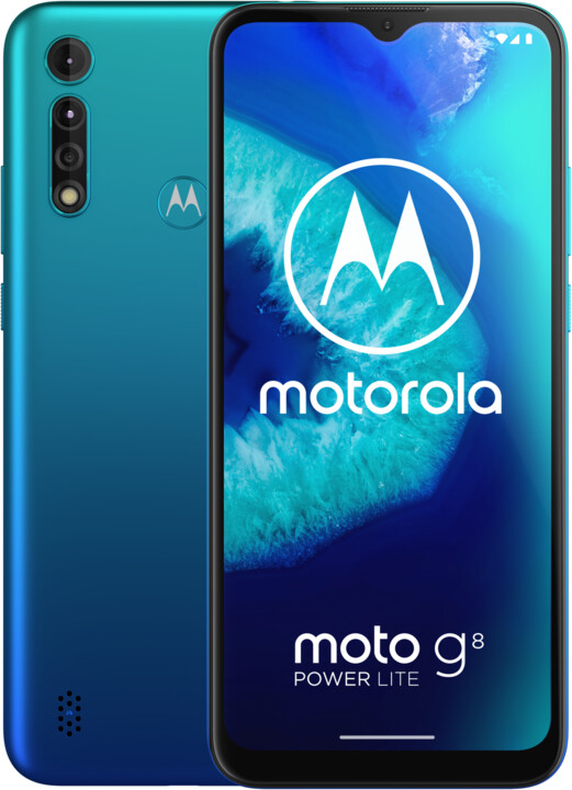Motorola Moto G8 Power Lite, 4GB/64GB, Arctic Blue