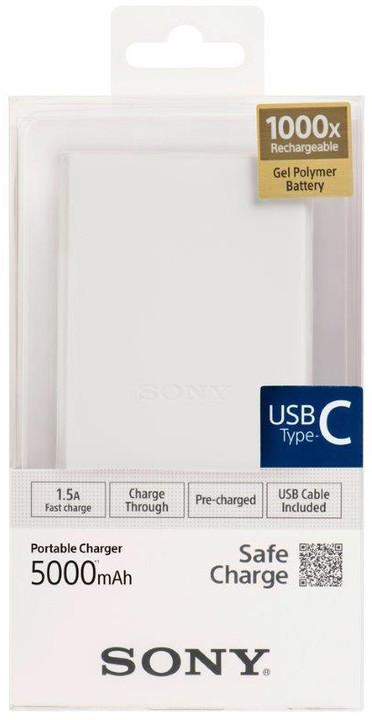 SONY CP-V5BWC, 5000mAh, USB-C, bílá