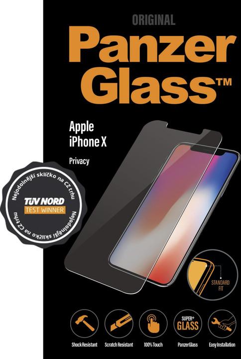 PanzerGlass Standard Privacy pro Apple iPhone X